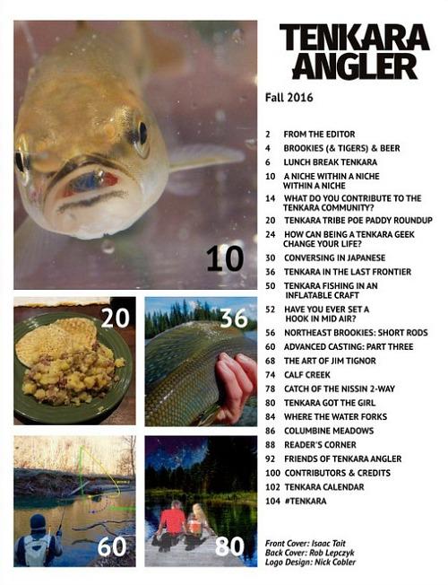 Tenkara Angler Fall 2016 contents