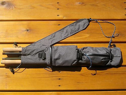 Ebira guide with four tenkara rods