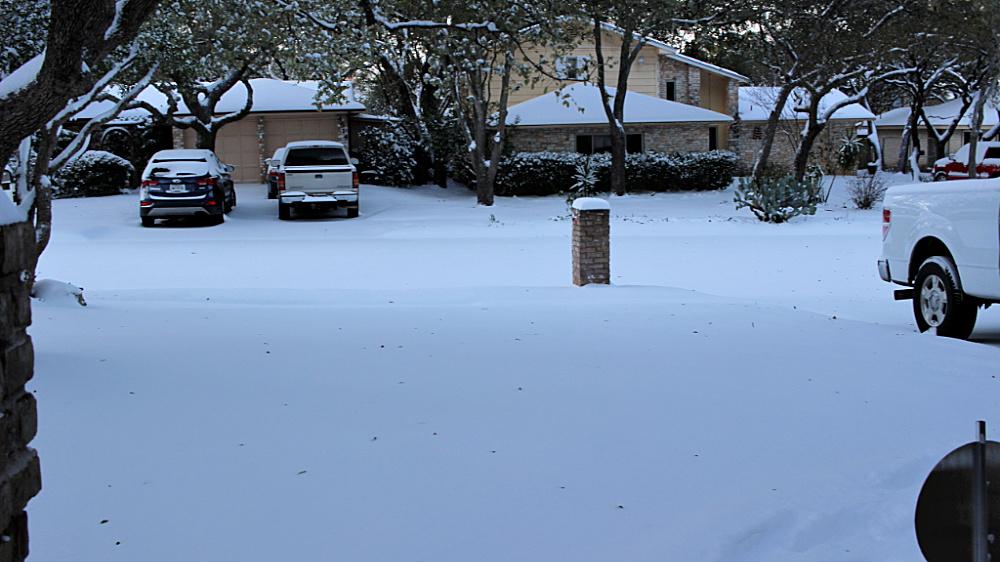 San Antonio snow