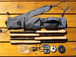 Ebira Guide and gear that fits in the two pouches