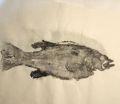 Smallmouth Bass basic ink print