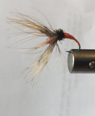Orange Kebari on an Amago hook
