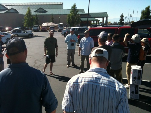 Meeting in Cabela's parking lot on first morning