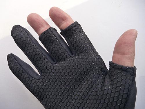 Nonskid palm on black glove