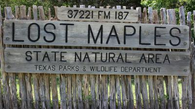 Entry to Lost Maples State Natural Area