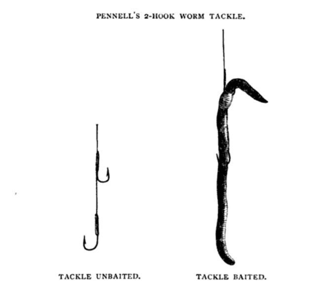 Pennell's Two Hook Worm Tackle