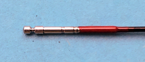 Rod tip showing direct connection swivel.