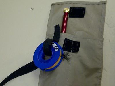 Line spool in Uni-tape loop