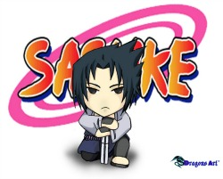 Cartoon drawing of Japanese Sasuke character