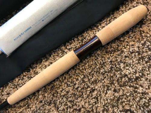 Hardwood insert in Maystone NW grip.