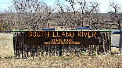 Entrance to South Llano River State Park