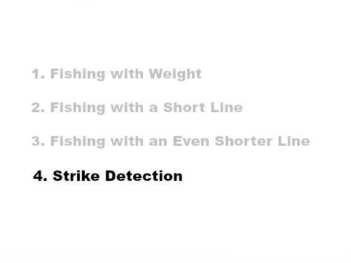 Slide: 1. Fishing with Weight 2. Fishing with a Short Line 3. Fishing with an Even Shorter Line 4. Strike Detection