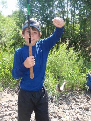 With minimal instruction kids can begin to fish independently with tenkara rods and catch fish.