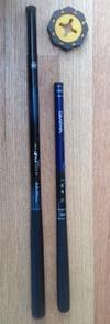 Keiryu rods: Nissin 450ZX stiff and Diawa Kiyose 36SF