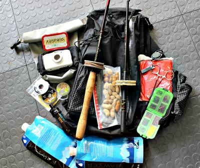 ZimmerBuilt Tenkara Guide Sling and the Normal Items I Carry