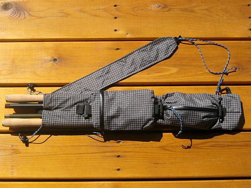 Ebira guide with four tenkara rods