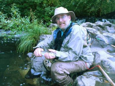 One of 12 cutthrout caught in Canyon Creek,  SW Washington
