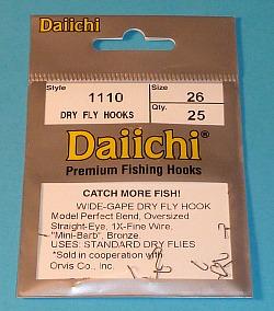 Package of Daiichi 1110 hooks, size 26