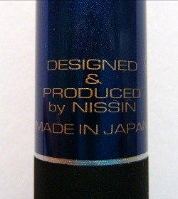 Designed and Produced by Nissin written on rod.