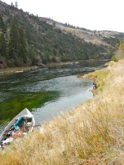 Fishing a big Green River Eddy