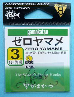 Gamakatsu Zero Yamame hook package.