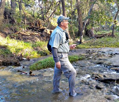 High water can provide opportunities to explore new fishing spots.