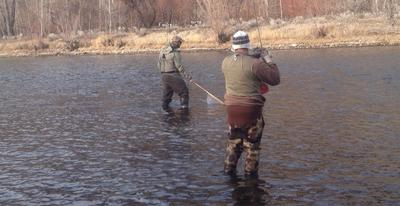 Fighting a Fish on the South Fork of the Boise