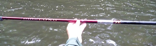 Suntech Kurenai Long rod collapsed, at arms length, won't fit in the photo.
