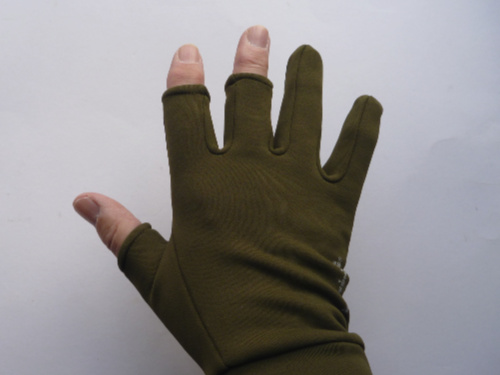 Olive, back of glove.