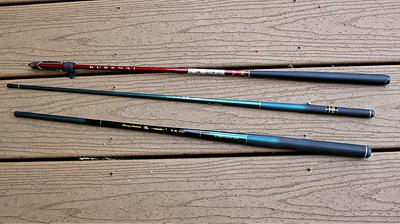 Three seiryu rods that work well for micro fishing.