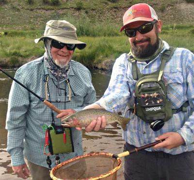 Bobby Fellows with Vern's big trout