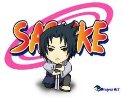 Cartoon drawing of Japanese Sasuke character
