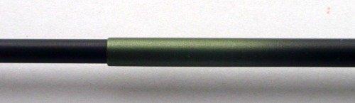 Tenkara Gen section end. Green paint fading to black.