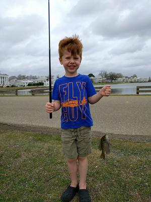Wyatt's first fish