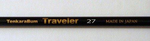 TenkaraBum Traveler 27 Made in Japan written on side of rod