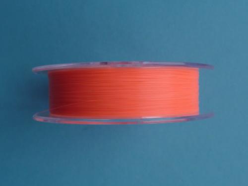 Bright orange YGK Hi-Vis Fluorocarbon Line