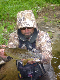 Zach with a Farmington River Brown <br>(not even close to his big ones).